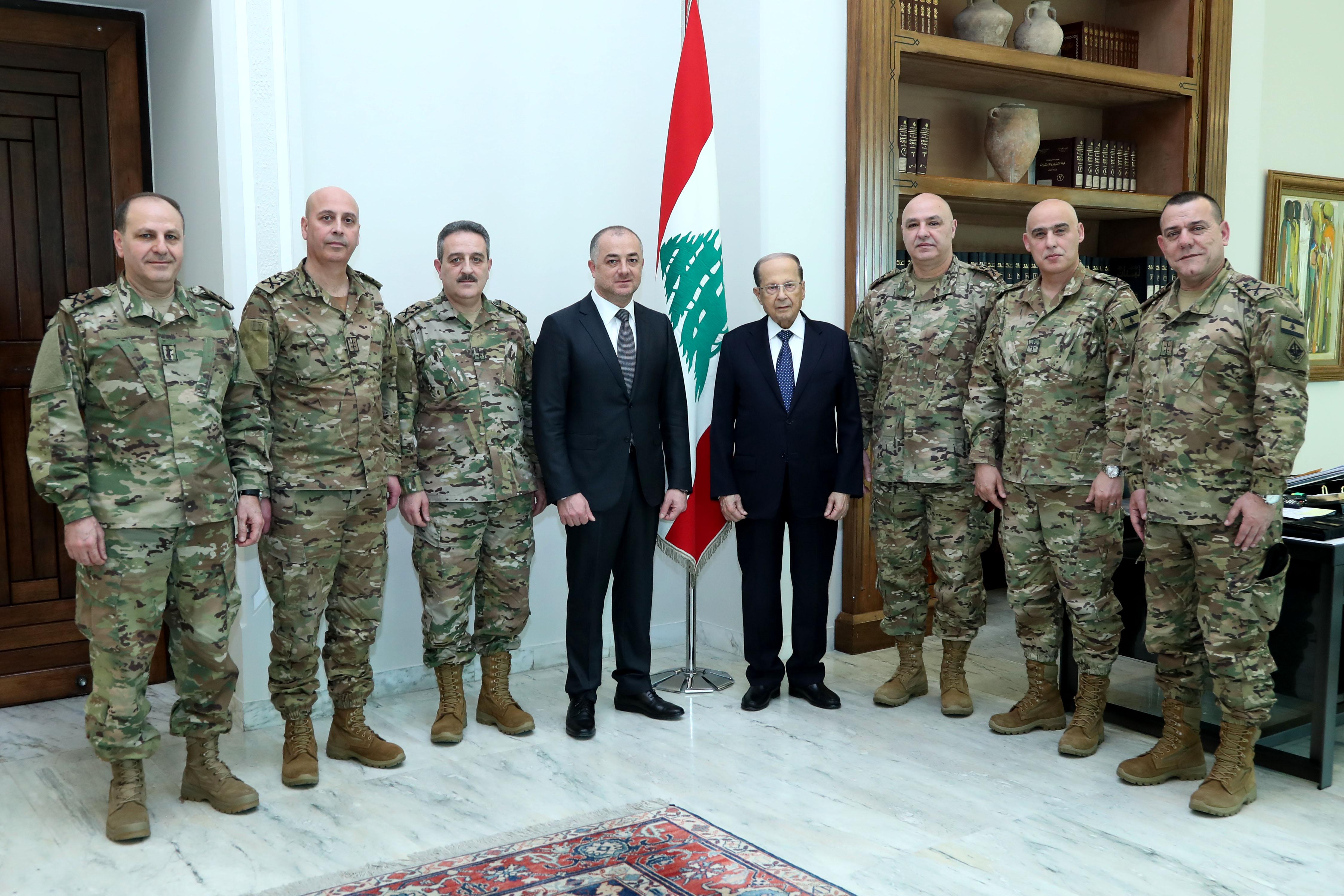 Minister Saab General Joseph Aoun (2)