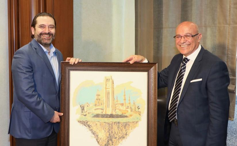 Pr Minister Saad Hariri meets Mr Ghassan Madhoun with a Delegation