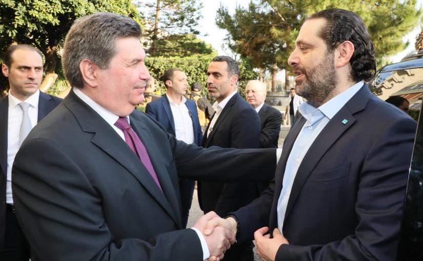 Pr Minister Saad Hariri meets Mr Maeen Karame