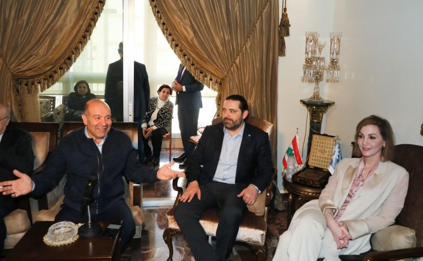 Pr Minister Saad Hariri meets Mr Moustapha Alouch