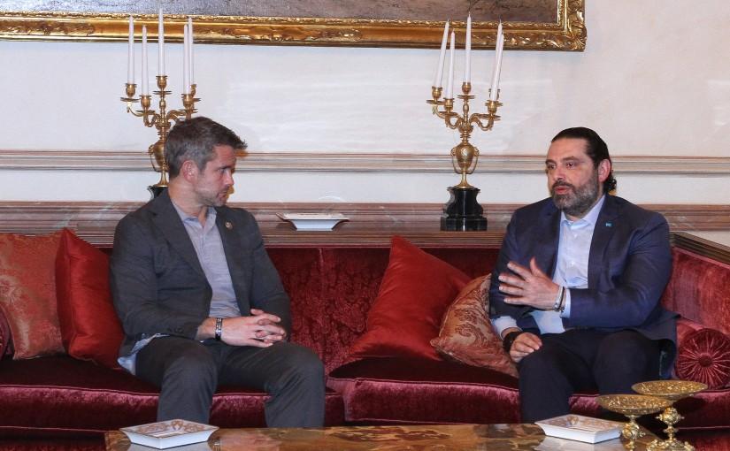 Pr Minister Saad Hariri meets a Delegation from Congress