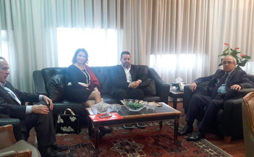 Minister Albert Semeha meets a Delegation from Lebanese Artist