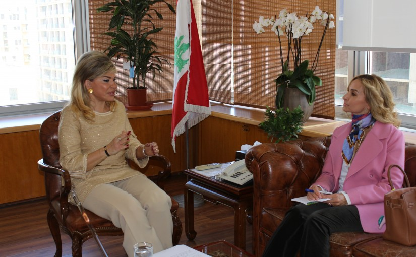 Minister May Chidiac meets Swiss Ambassador