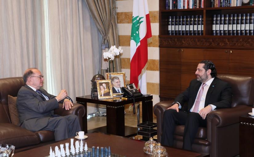 Pr Minister Saad Hariri meets Ambassador Edward Gergian