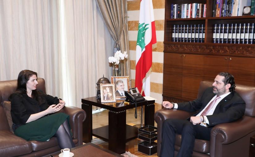 Pr Minister Saad Hariri meets Australian Ambassador