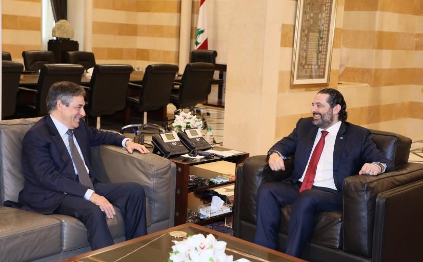 Pr Minister Saad Hariri meets Former Pr Minister Francois Fillion