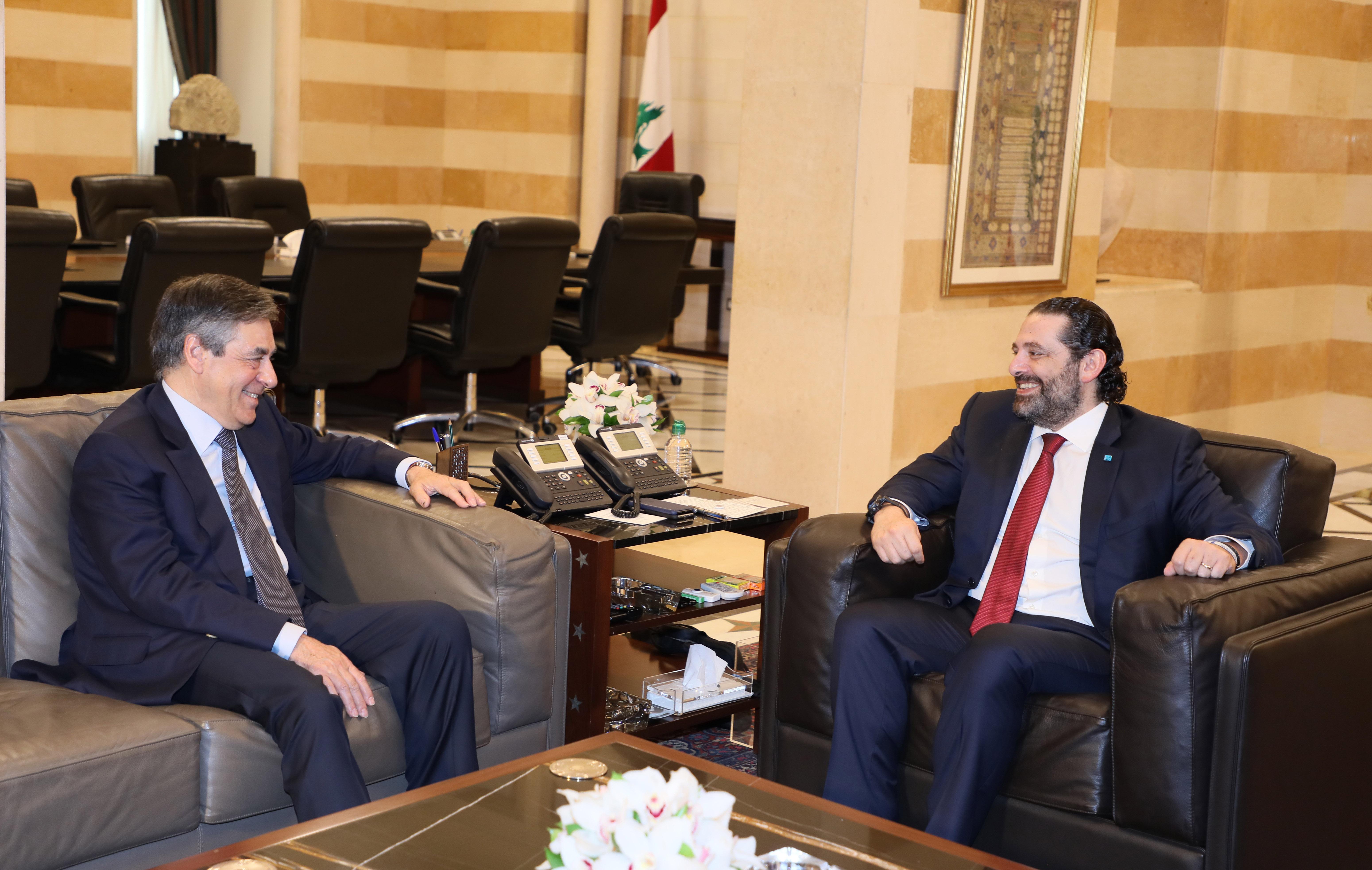 Pr Minisster Saad Hariri meets Former Pr Minister Francois Fillion