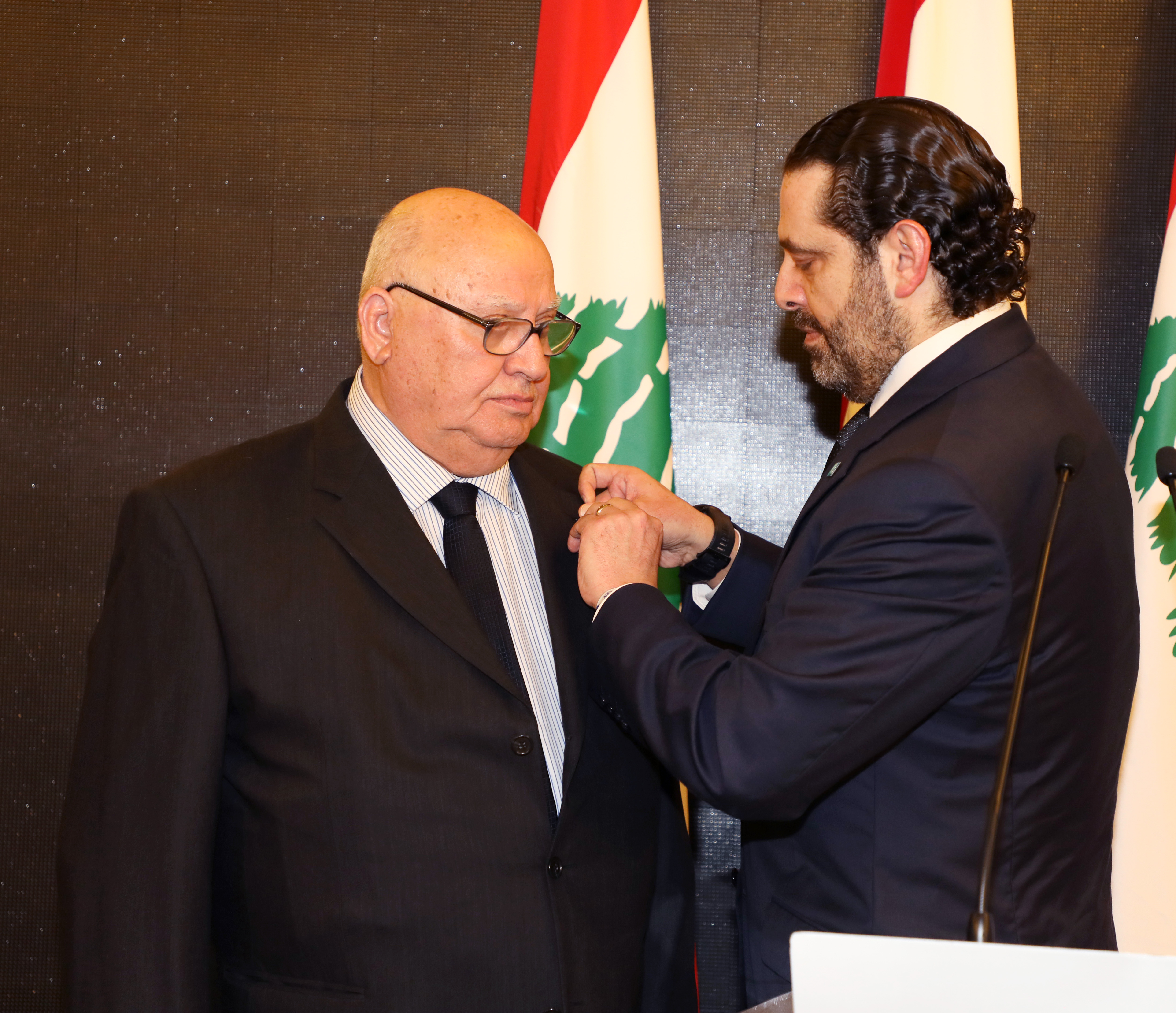 Pr Minister Saad Hariri Honors Mr Mouhamad el Saoudi 1