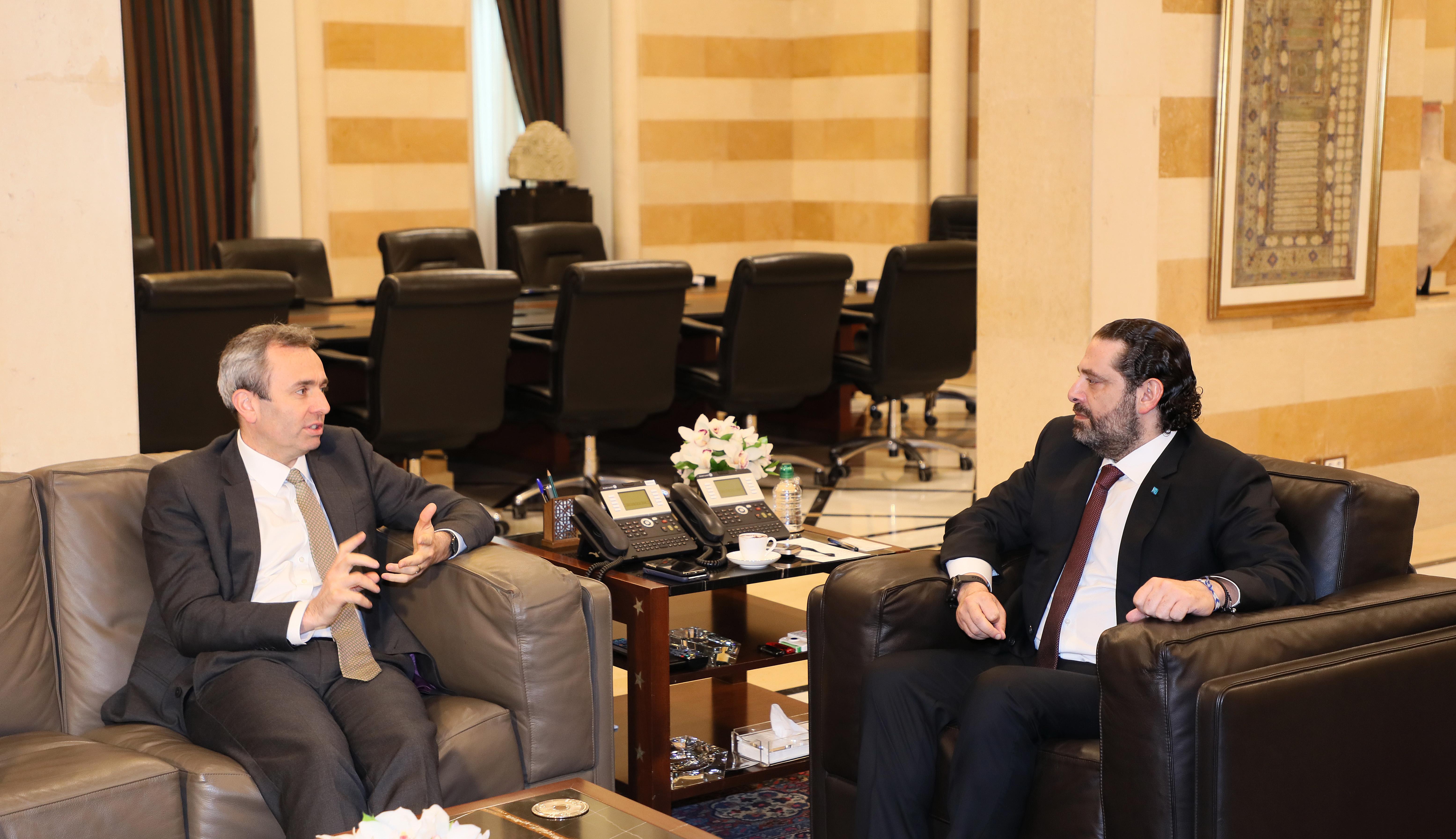 Pr Minister Saad Hariri meets Bristish Ambassador 1