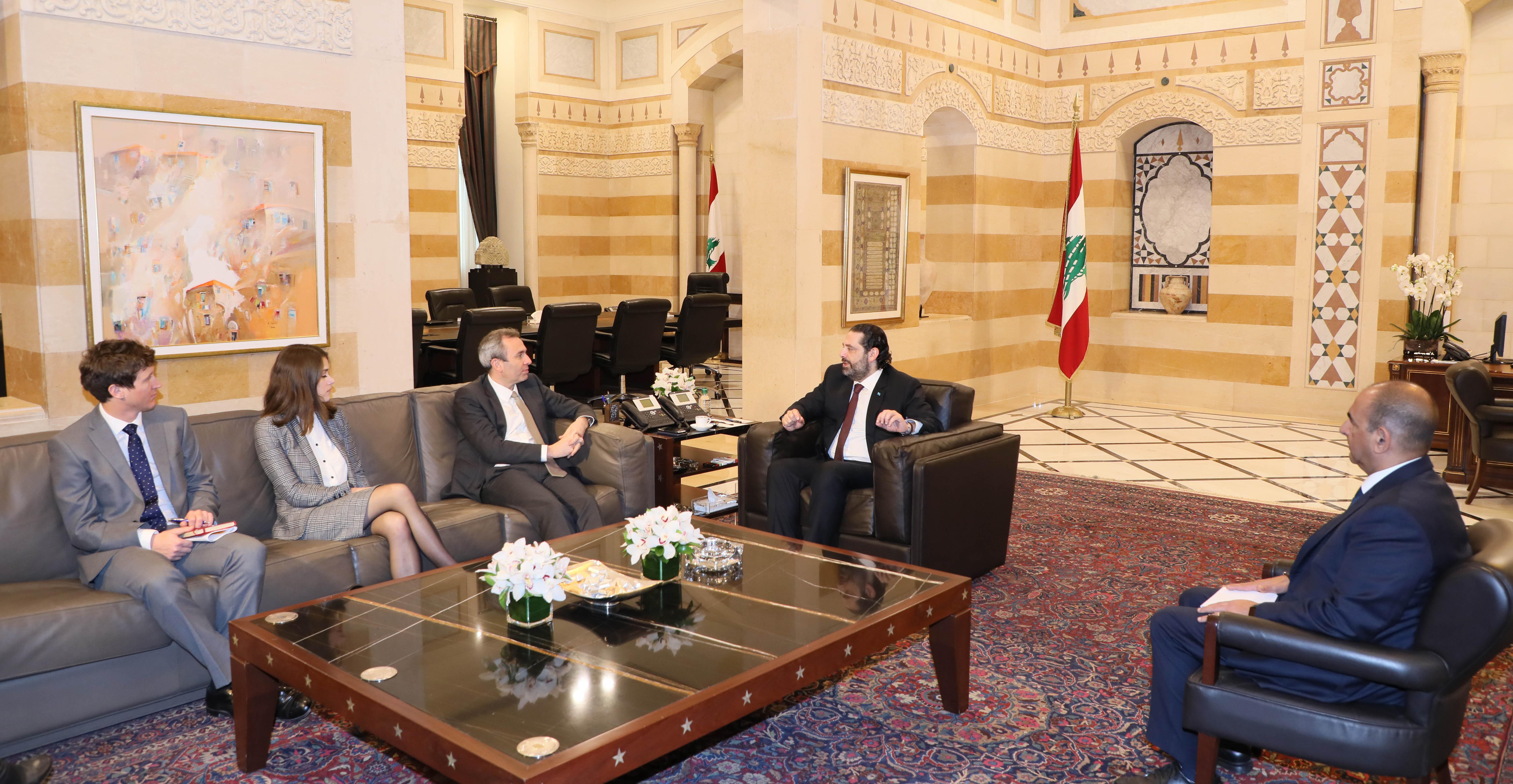 Pr Minister Saad Hariri meets Bristish Ambassador