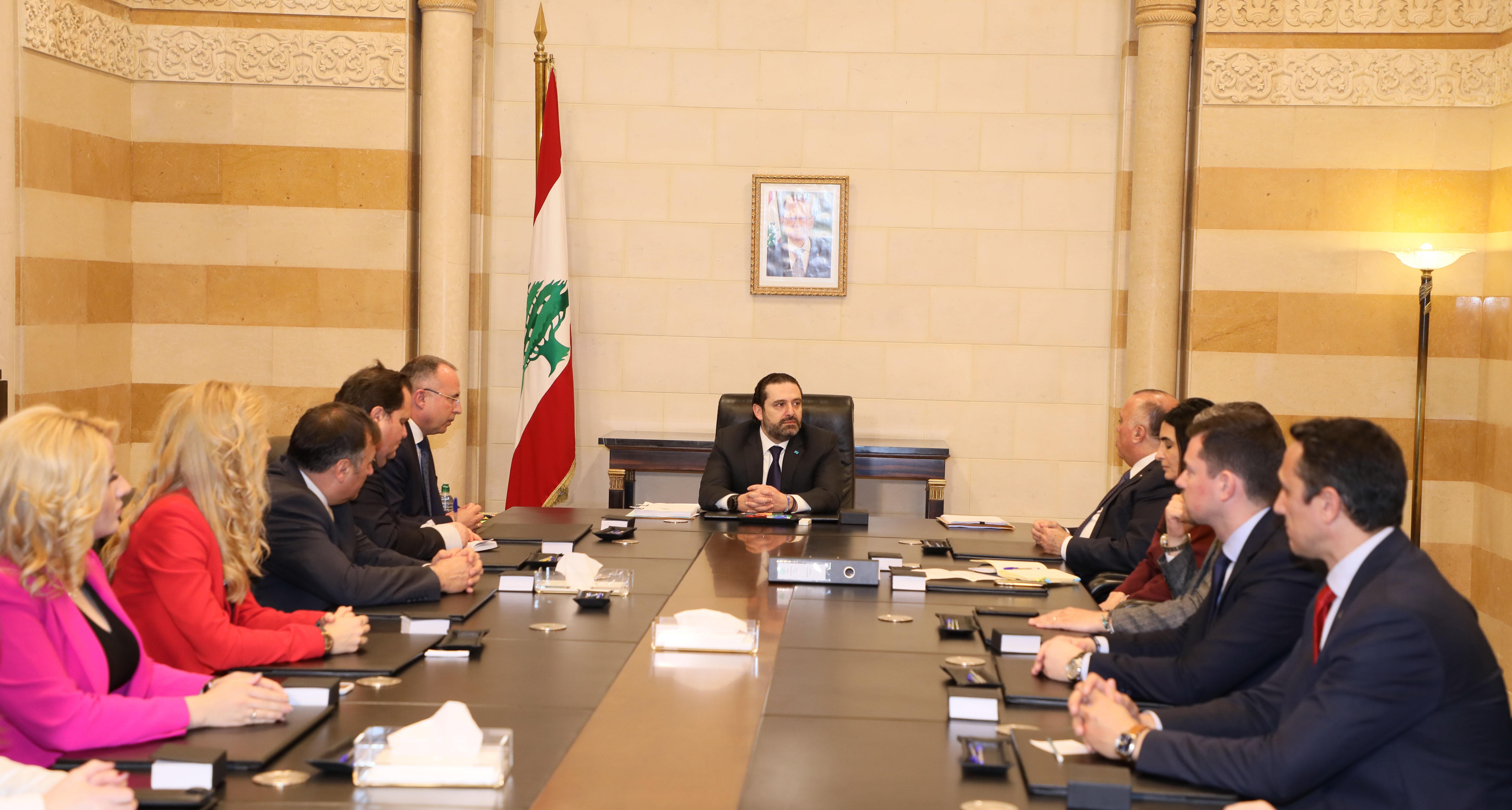 Pr Minister Saad Hariri meets Bulgarian Minister of Agriculture 1