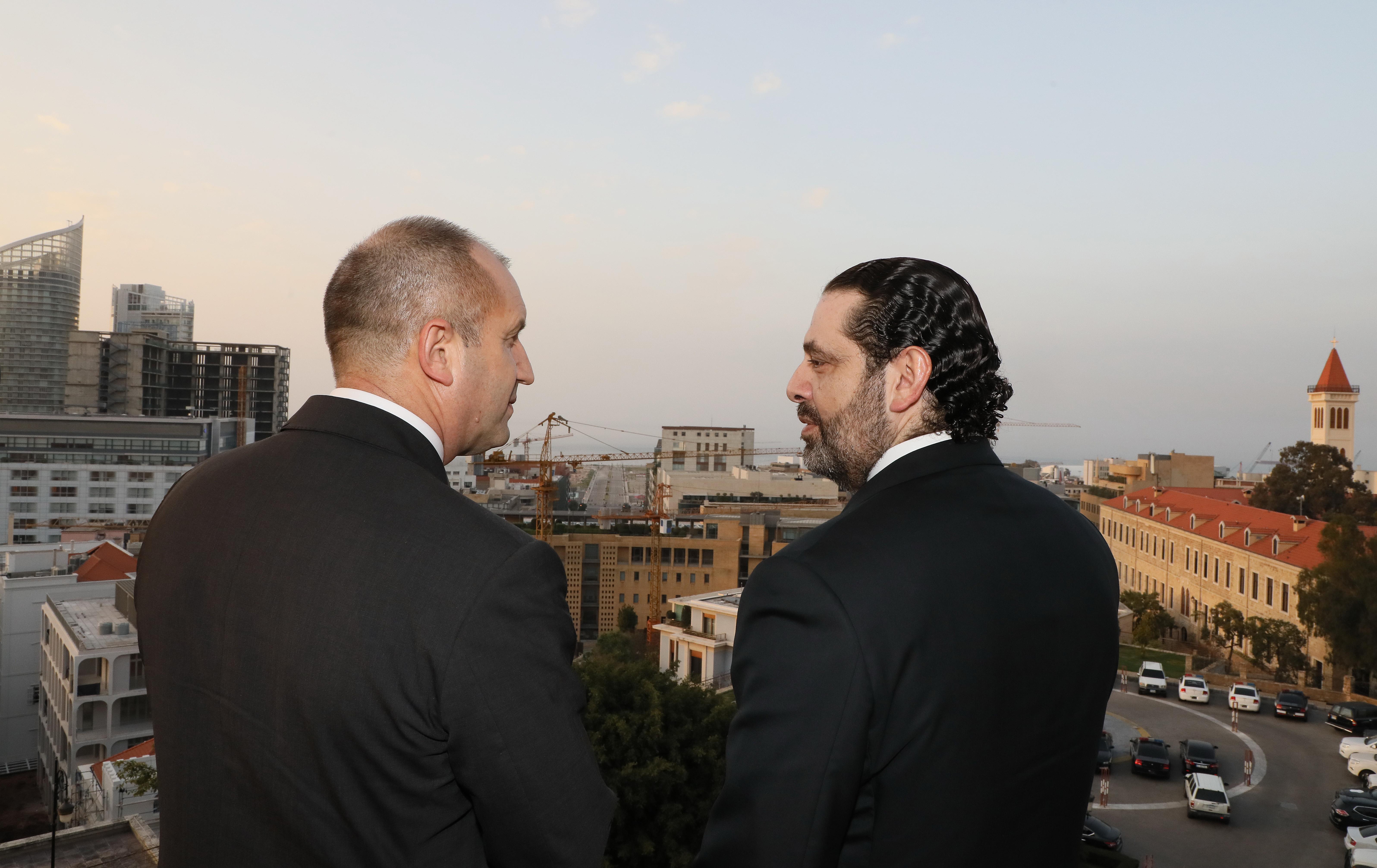 Pr Minister Saad Hariri meets Bulgarian President 1