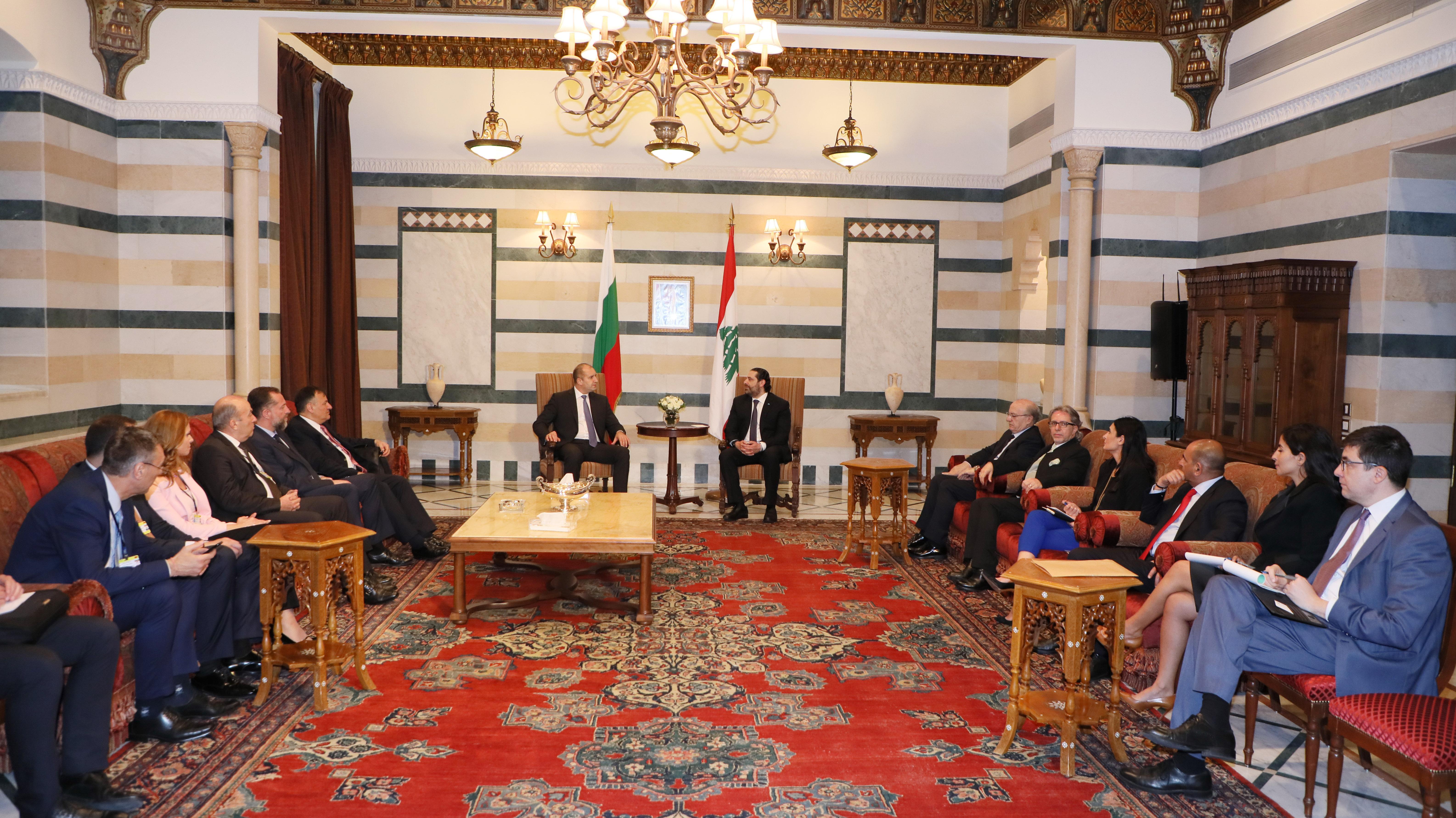 Pr Minister Saad Hariri meets Bulgarian President 2