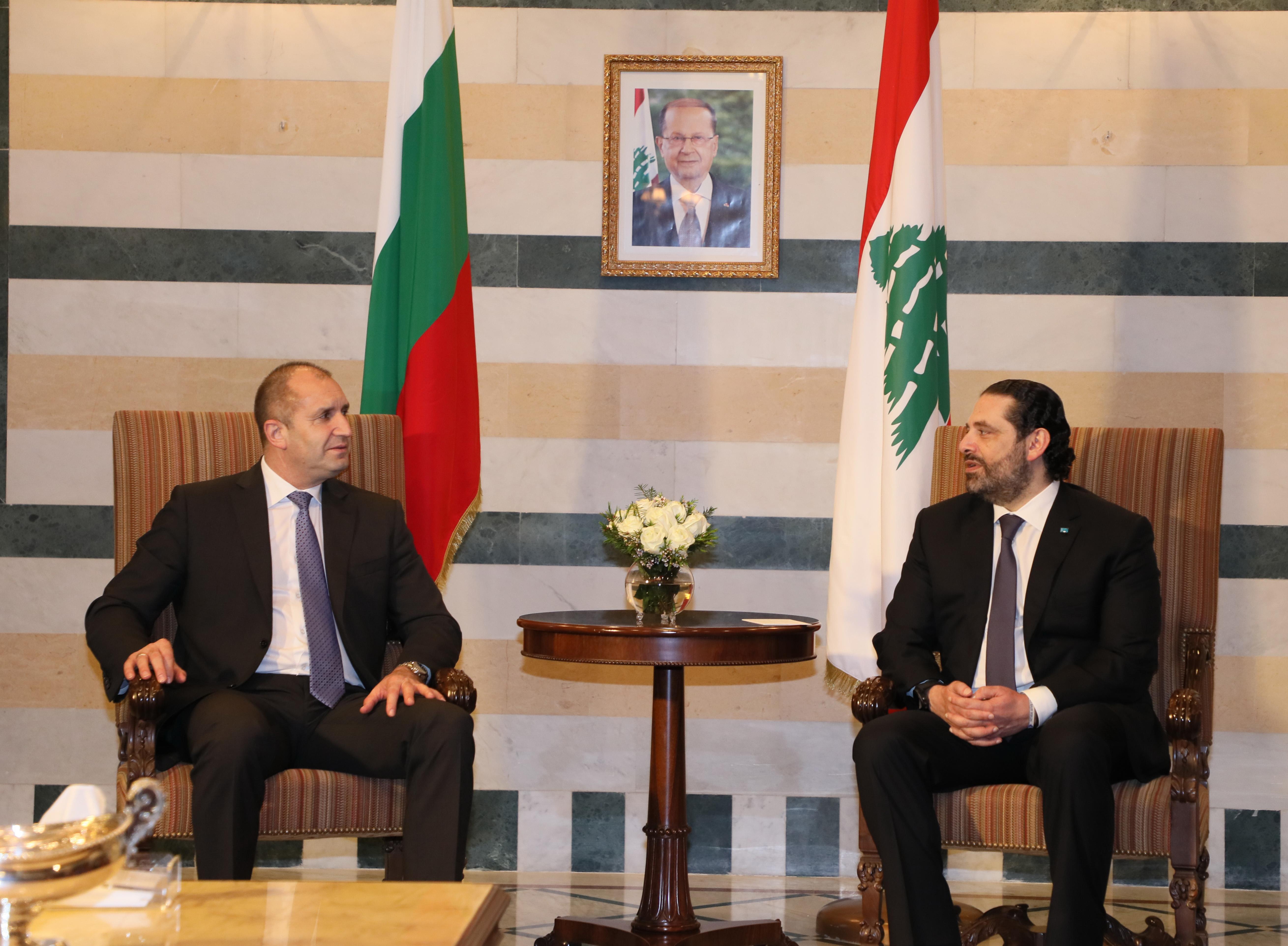 Pr Minister Saad Hariri meets Bulgarian President 3