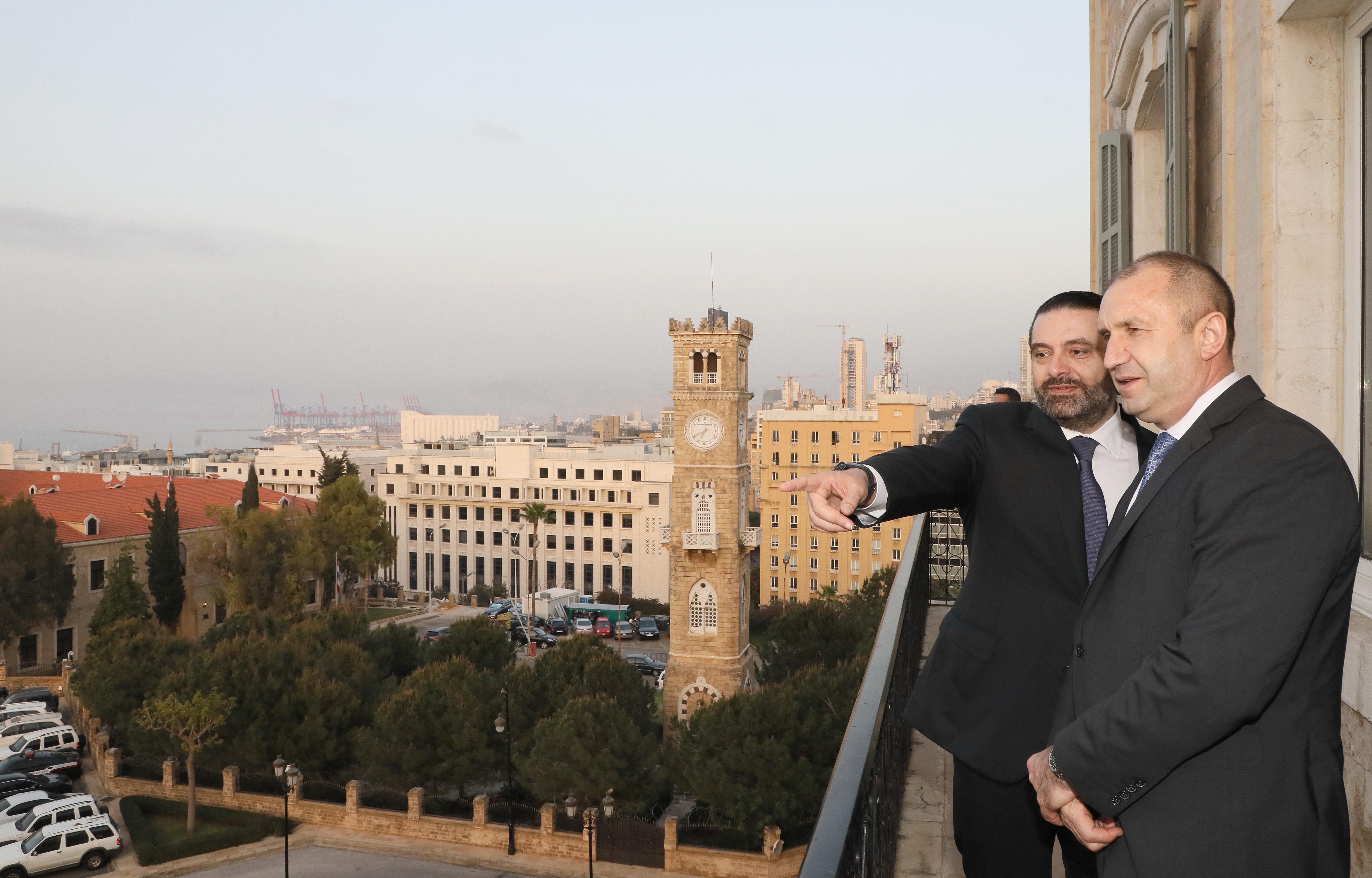 Pr Minister Saad Hariri meets Bulgarian President