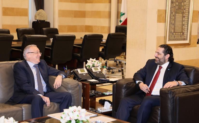 Pr Minister Saad Hariri meets Former Minister Ahmad Fatafat