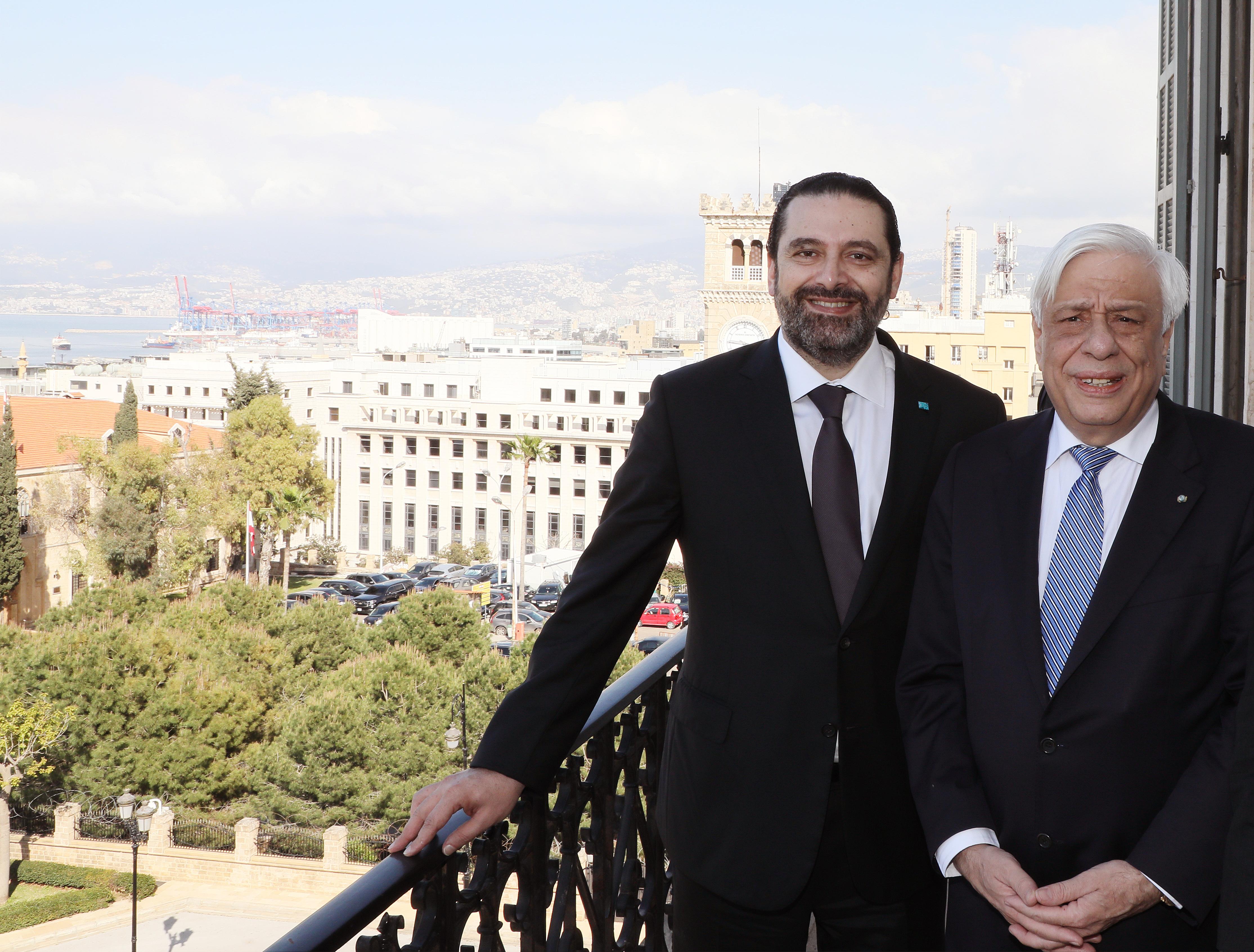 Pr Minister Saad Hariri meets Greek President 2