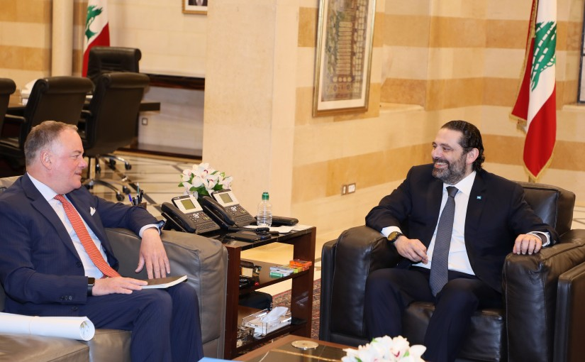 Pr Minister Saad Hariri meets Head of UNIFIL with a Delegation