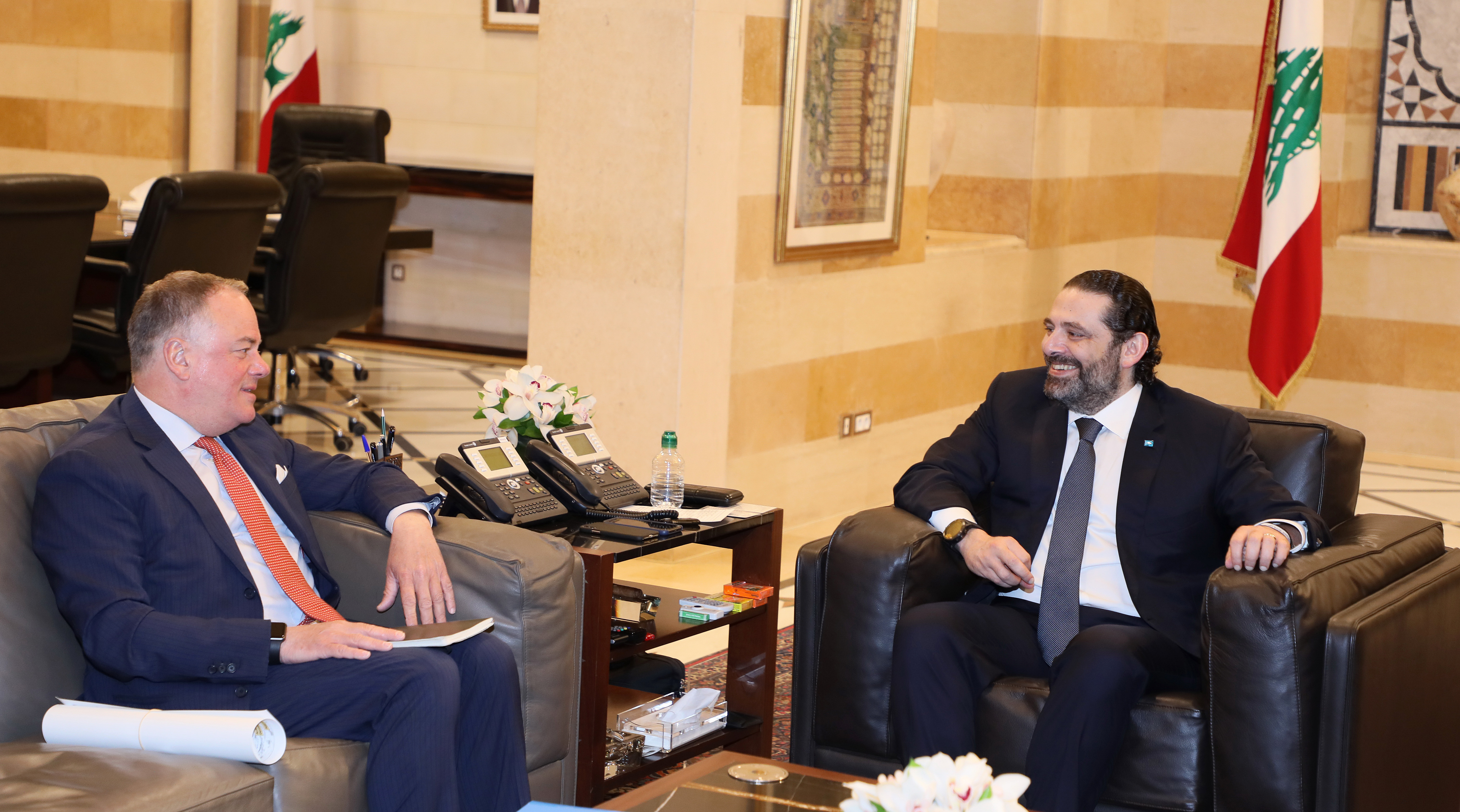 Pr Minister Saad Hariri meets Head of UNIFEL with a Delegation 1