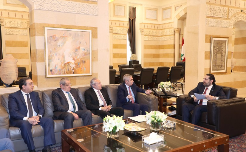Pr Minister Saad Hariri meets Lebanese Tax Association