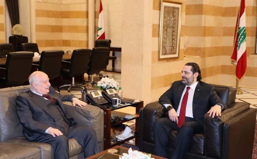 Pr Minister Saad Hariri meets MP Albert Mansour