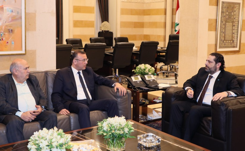 Pr Minister Saad Hariri meets MP Ali Darwish & MP Moustapha Houssein