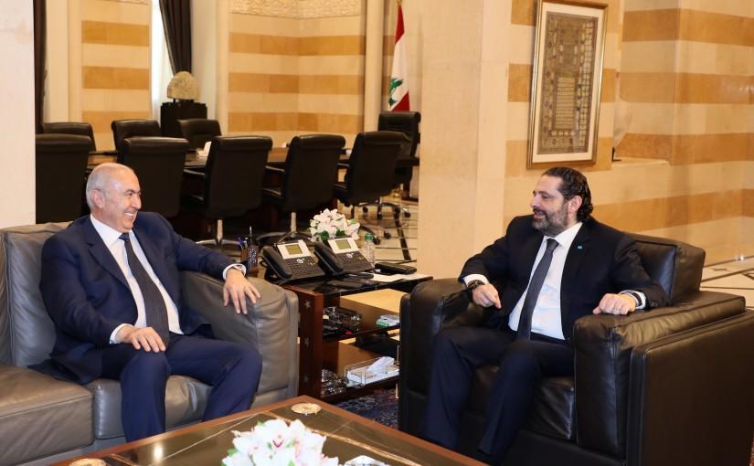 Pr Minister Saad Hariri meets MP Fouad Makhzoumi