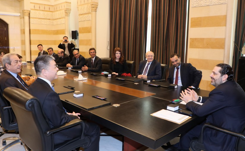Pr Minister Saad Hariri meets Minister Mouhamad Daoud Daoud with a Delegation