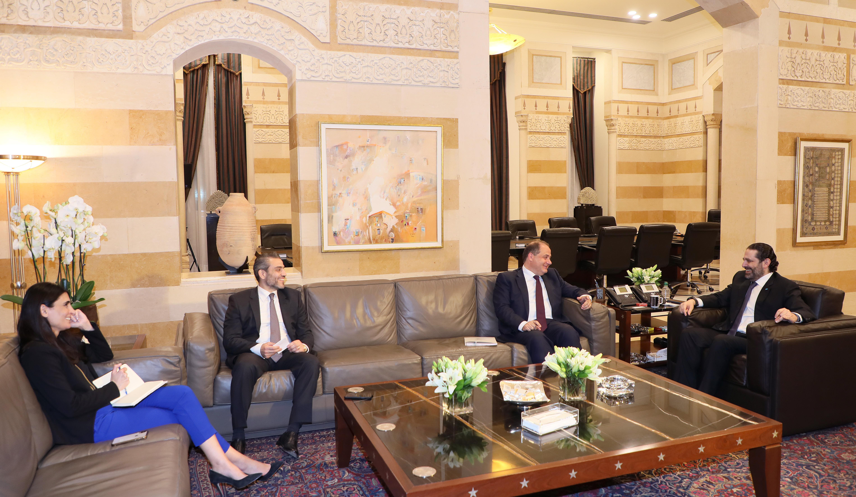 Pr Minister Saad Hariri meets Mr Charles Arbid with a Delegation