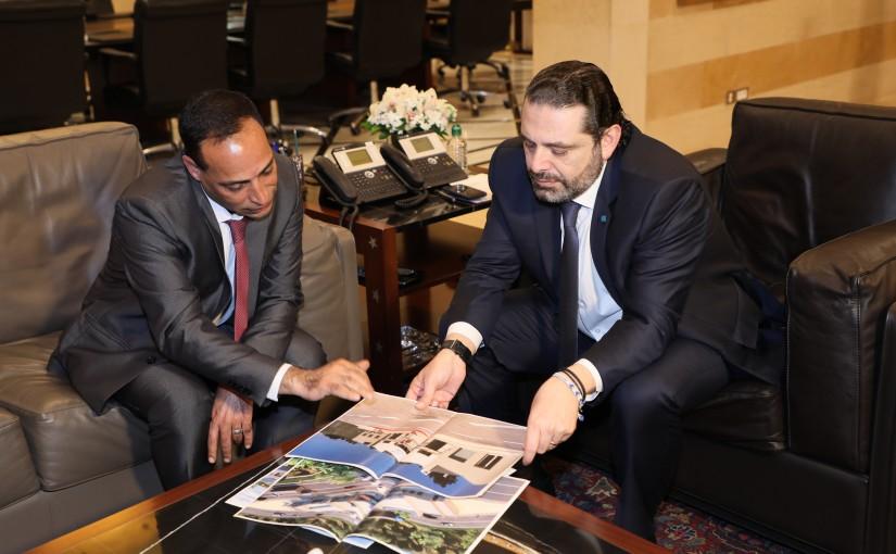 Pr Minister Saad Hariri meets Mr Fawzi Zayoud with a Delegation