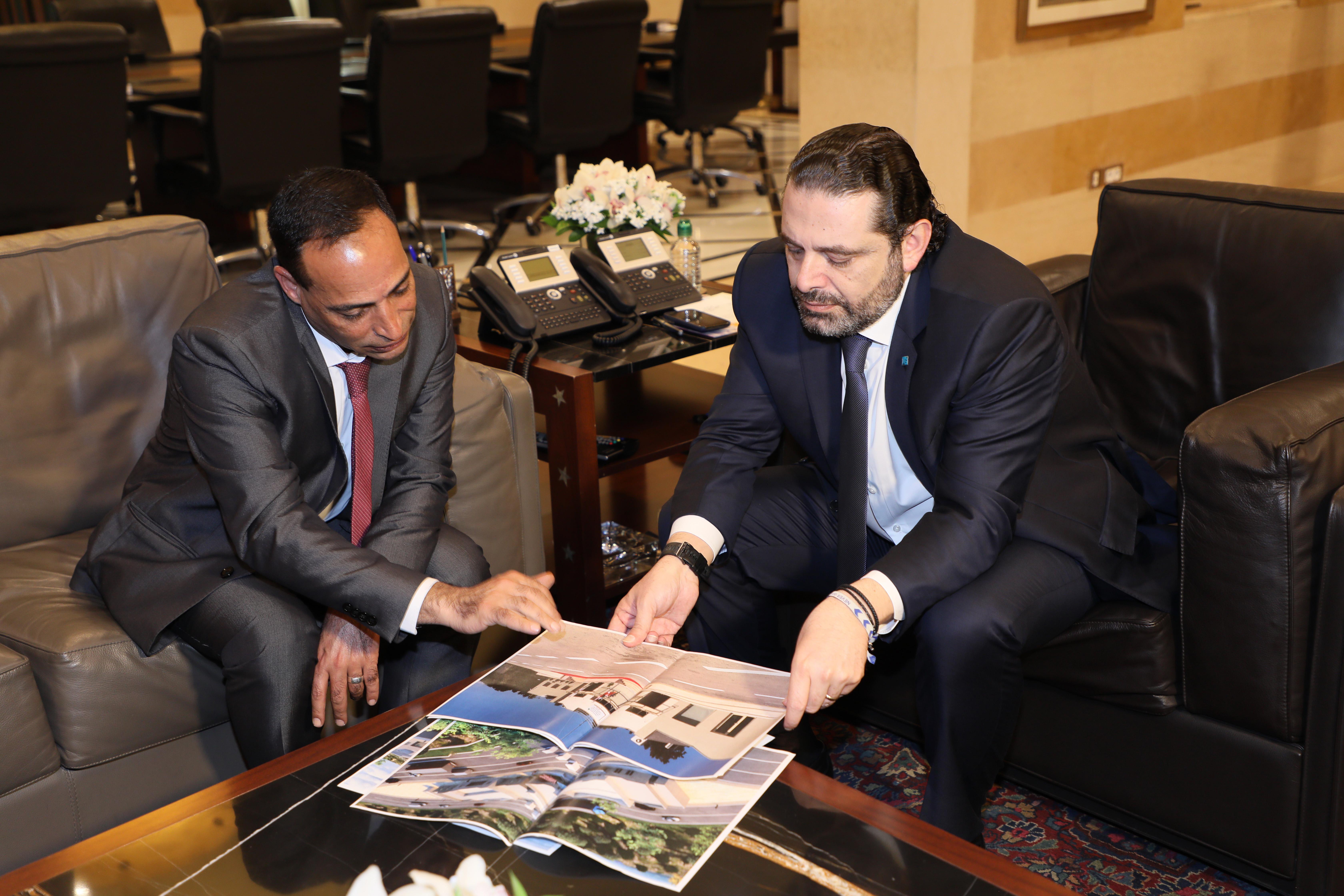 Pr Minister Saad Hariri meets Mr Fawzi Zayoud with a Delegation 1