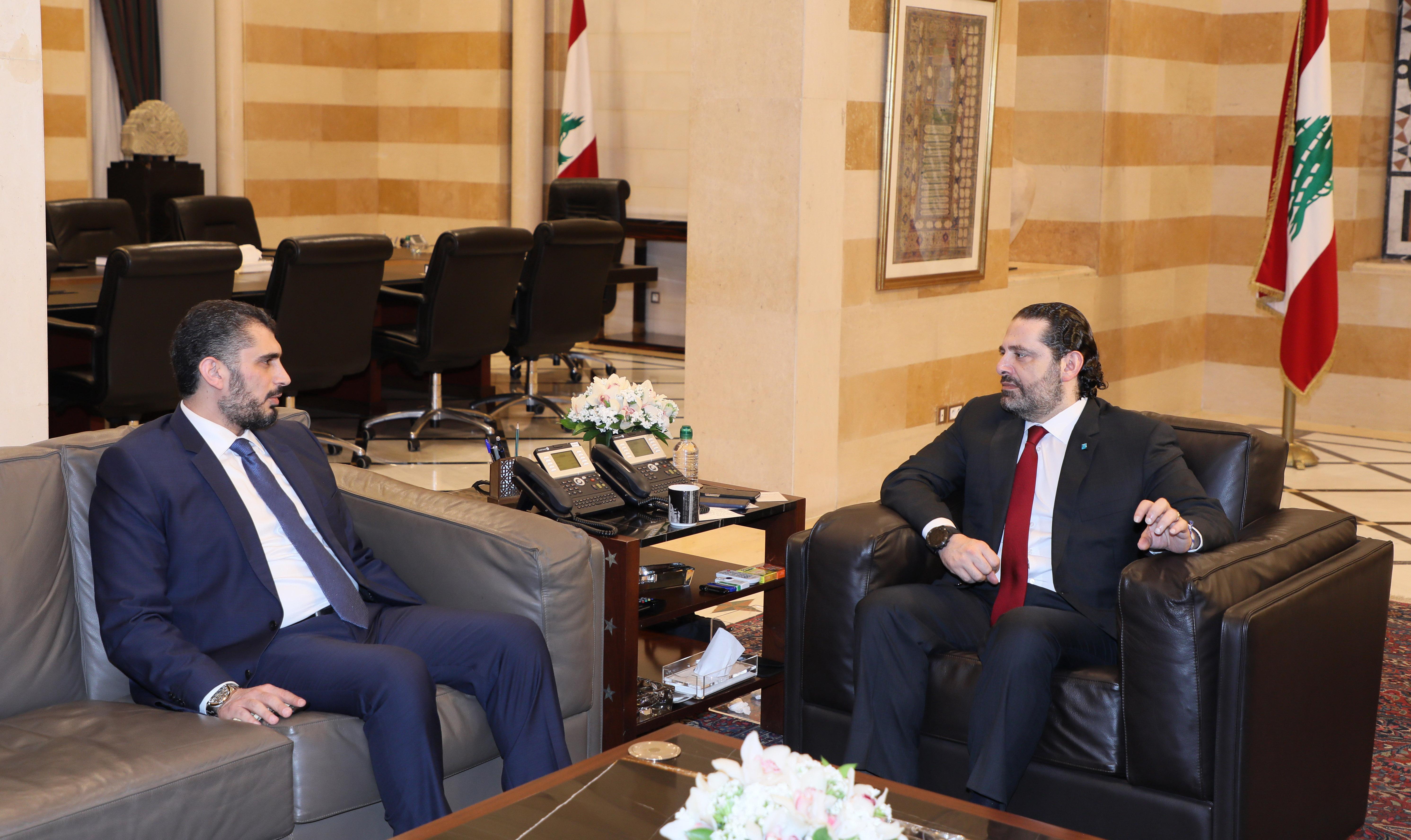 Pr Minister Saad Hariri meets Mr Khaled Zoghbi