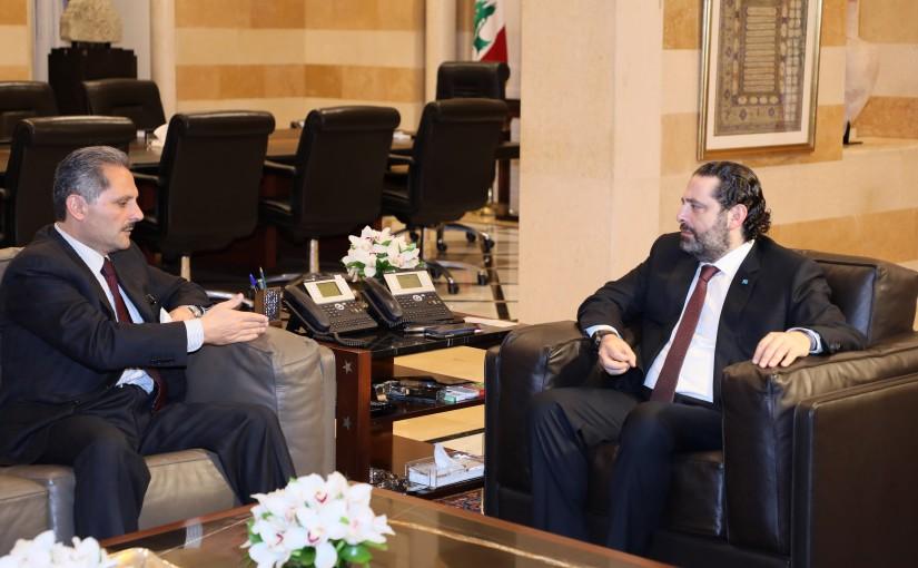 Pr Minister Saad Hariri meets Mr Samir Hammoud
