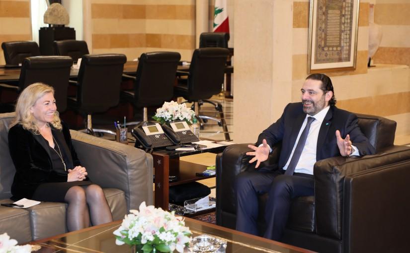 Pr Minister Saad Hariri meets Norwegian Ambassador