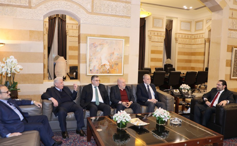 Pr Minister Saad Hariri meets a Delegation from Beirut Association