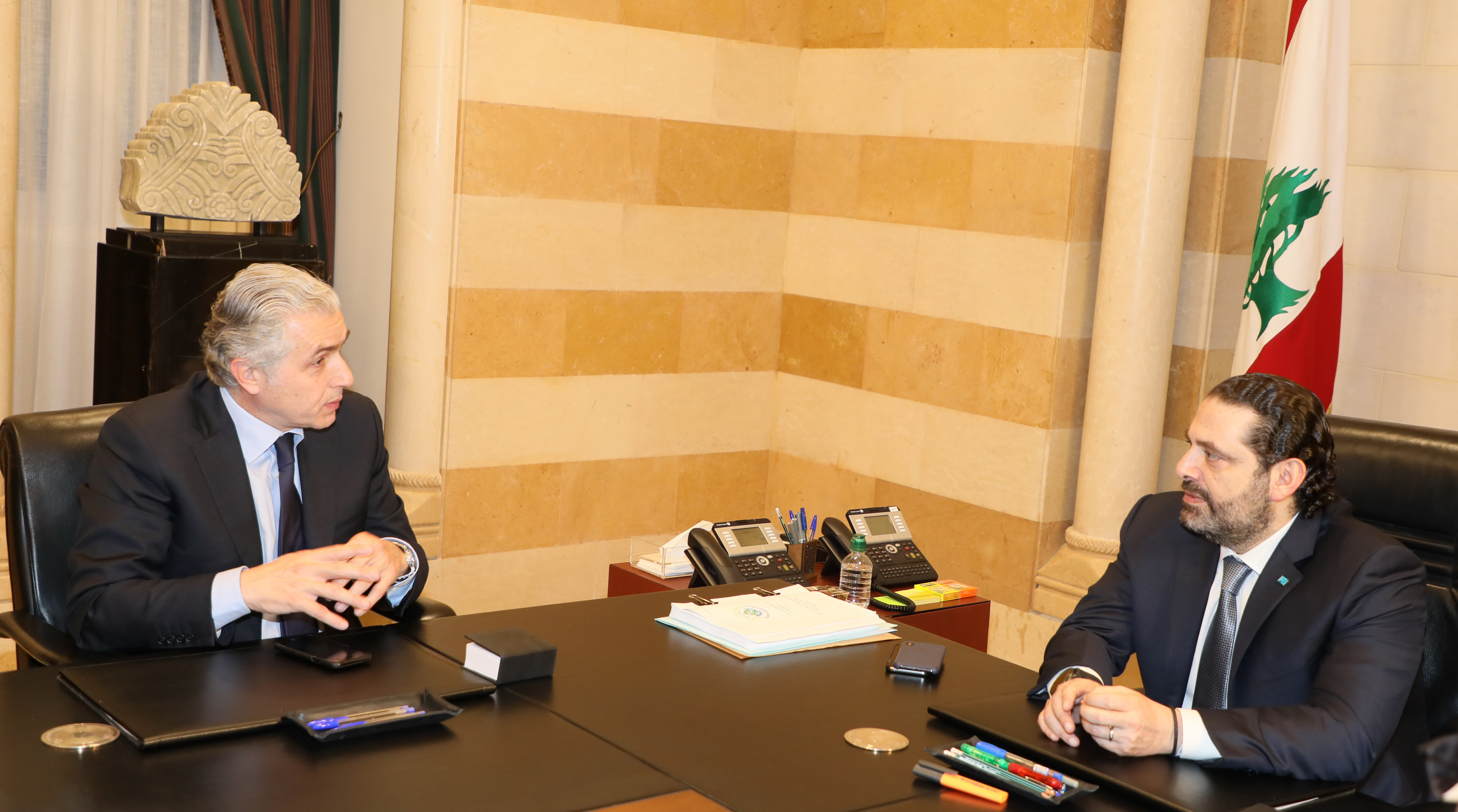 Pr Minister Saad Hariri meets a Delegation from Beirut Municipality 1