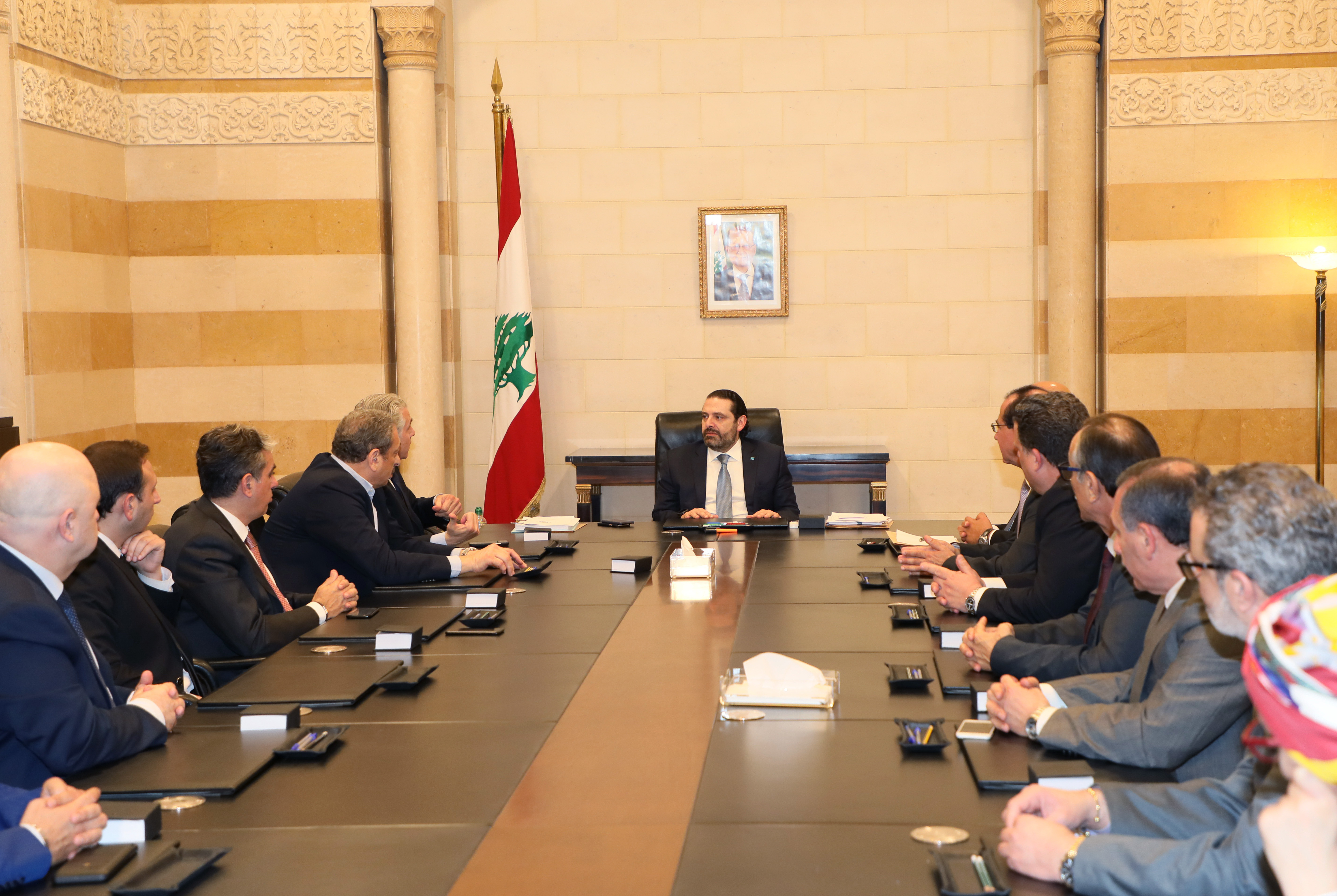 Pr Minister Saad Hariri meets a Delegation from Beirut Municipality