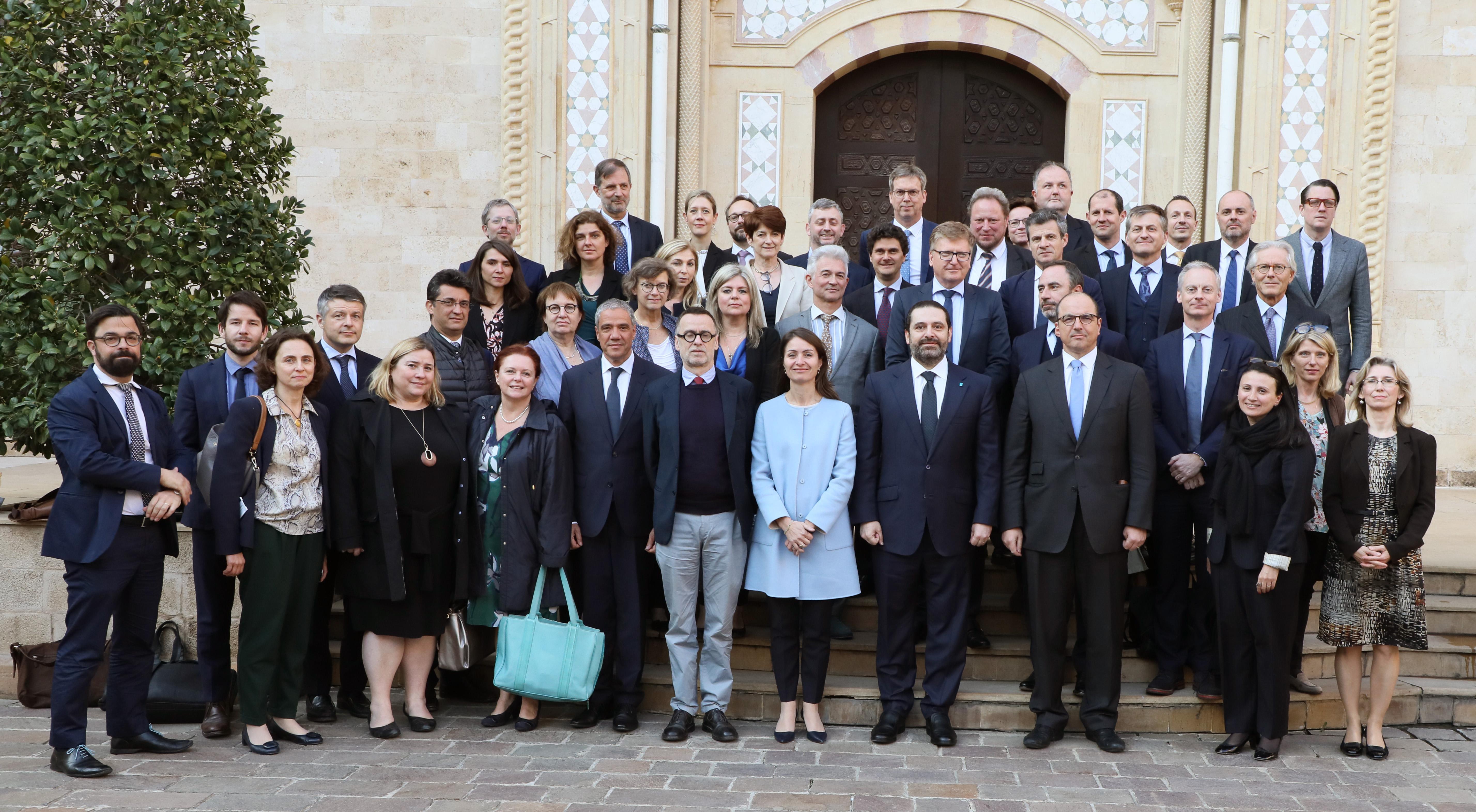 Pr Minister Saad Hariri meets a Delegation from European Ambassador 2
