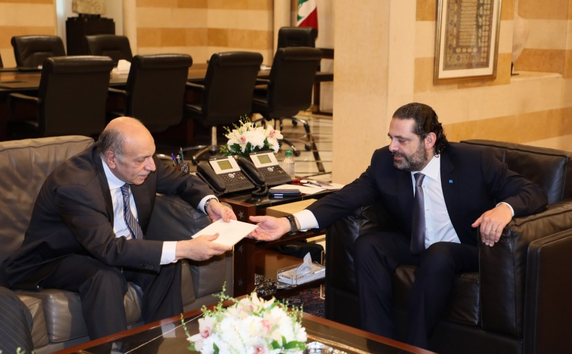 Pr Minister Saad Hariri meets a Delegation from Hassan Khaled Association