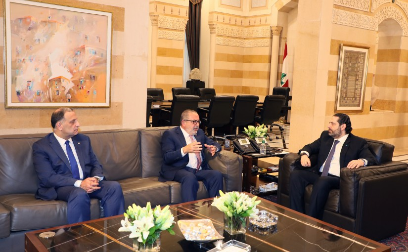 Pr Minister Saad Hariri meets a Delegation from Kateb Party