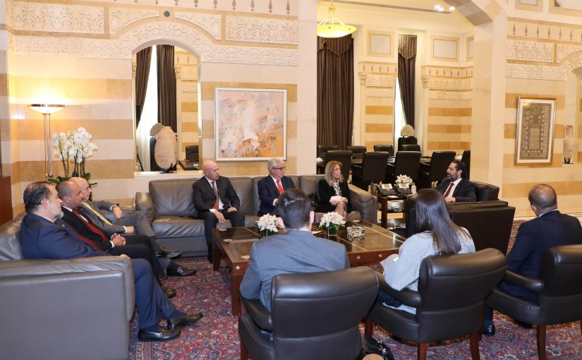 Pr Minister Saad Hariri meets a Delegation from Latin America Ambassadors