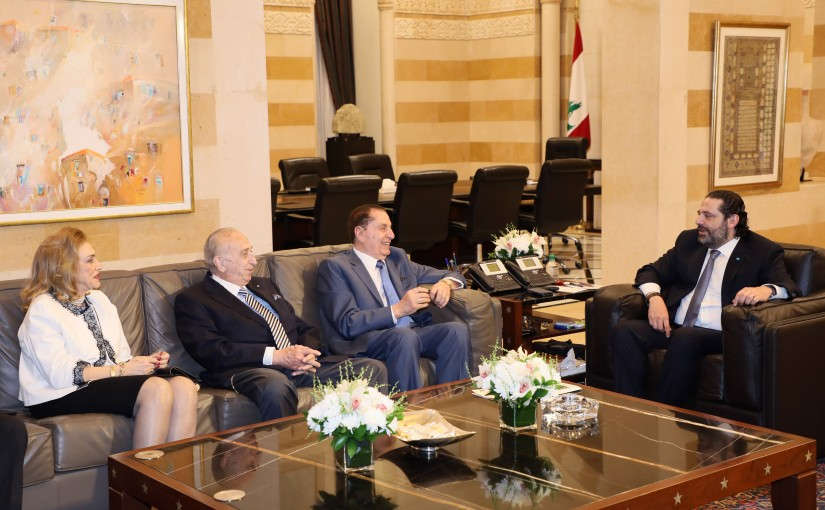 Pr Minister Saad Hariri meets a Delegation from Lebanese Busnissmen