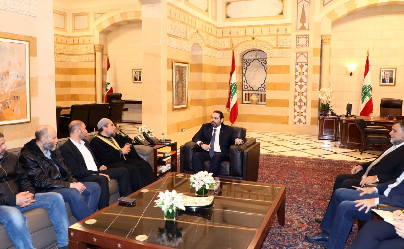 Pr Minister Saad Hariri meets a Delegation from Lebanese Detainees Committee