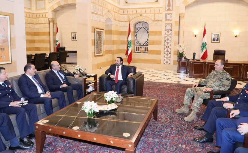 Pr Pr Minister Saad Hariri meets a Delegation from Security State