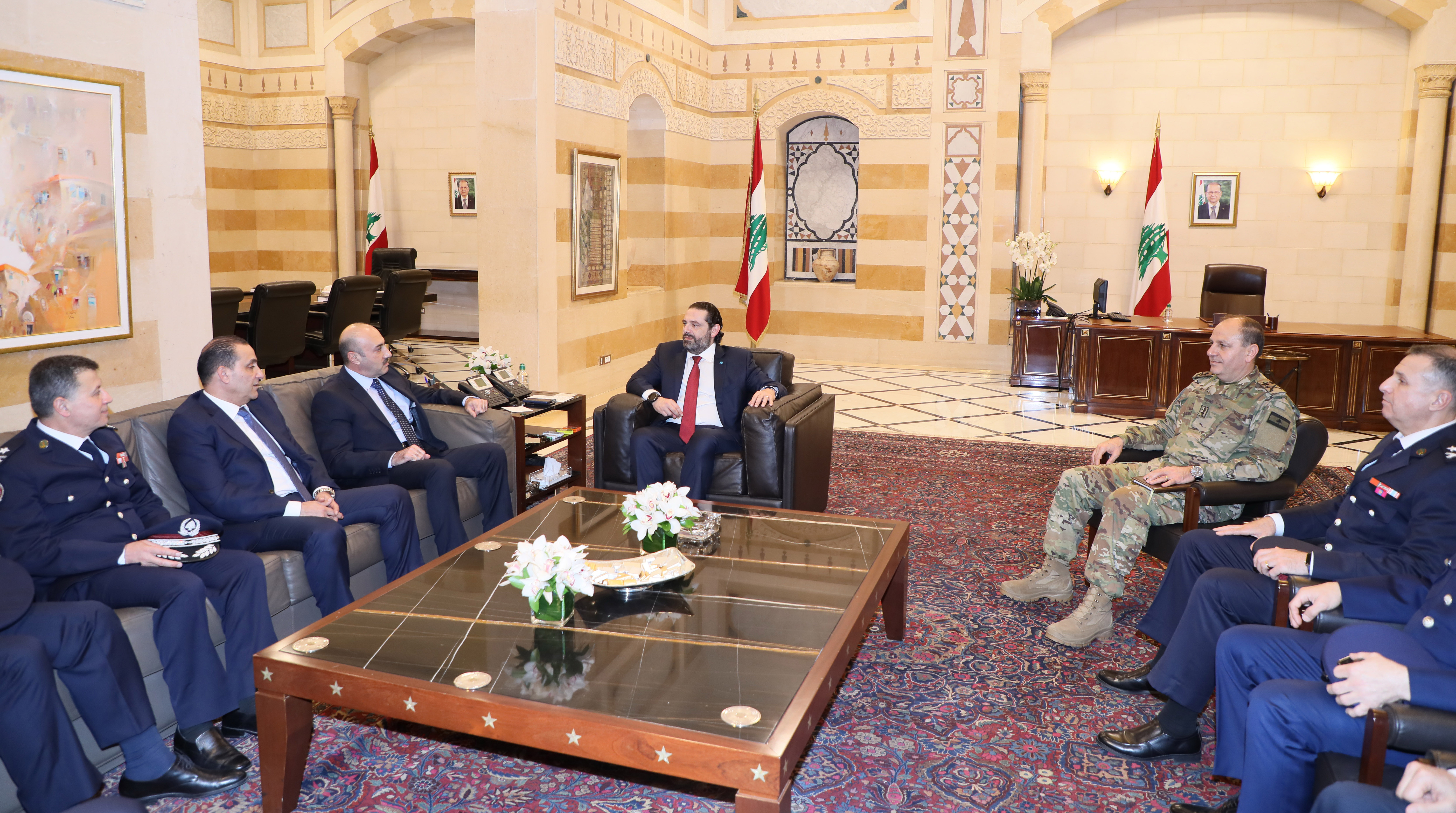 Pr Minister Saad Hariri meets a Delegation from Security State