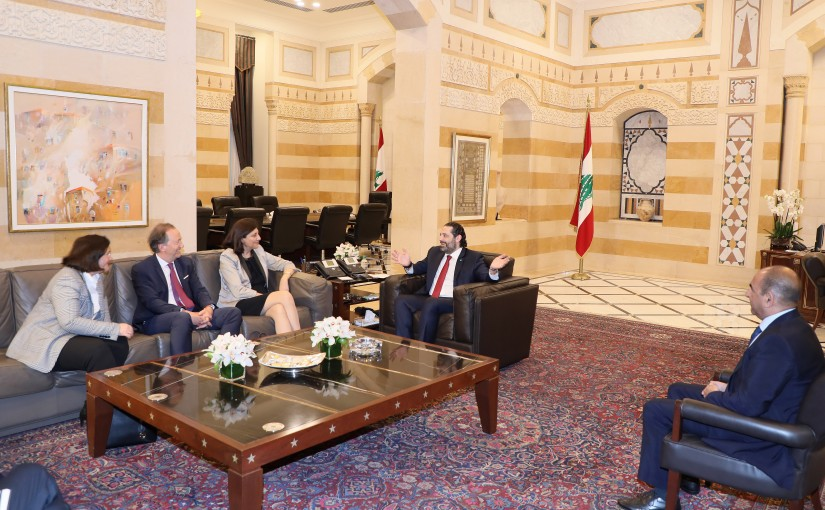 Pr Minister Saad Hariri meets a French Delegation