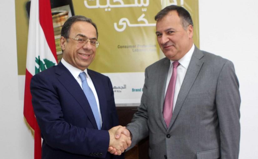 Minister Mansour Bteich meets Bulgarian Ambassador