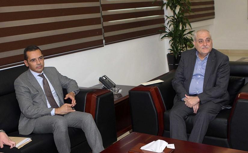 Minister Jamil Jabak meets MP Fady Alameh