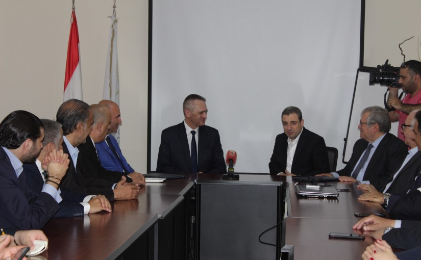 Minister Wael Abou Faour meets a  Delegation from Lebanese Businessman