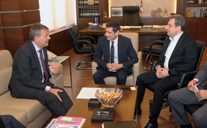 Minister Richard Kouyoumdjian meets Minister Wael Abou Faour
